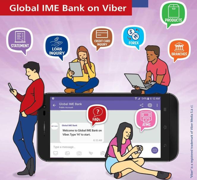 ग्लोबल आइएमई र नबिल बैंकले, सुरु गरे VIBER बाटै सेवा सुचारु!!!