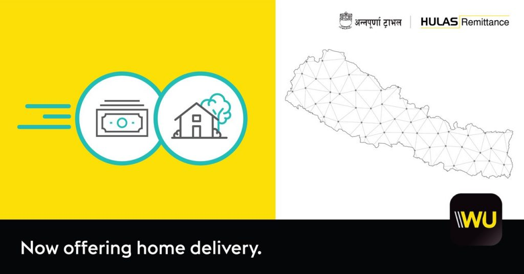 Western Union Money Transfers Now Delivered Home In Nepal
